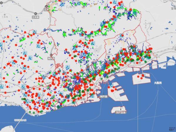 避難勧告が神戸市全域へ。土砂災...