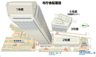 市庁舎配置図