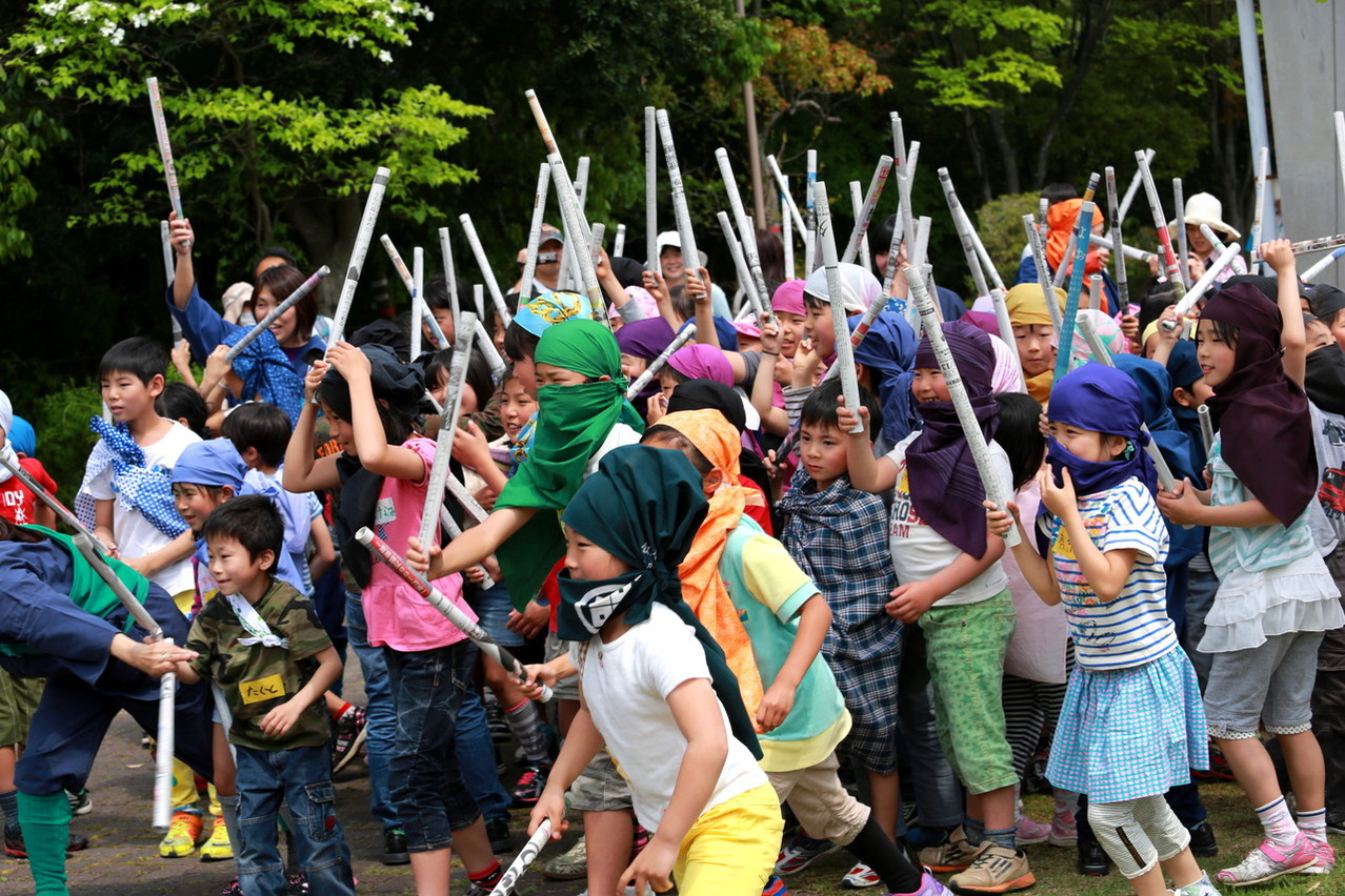 みんなで忍者 ~神戸総合運動公園の巻~